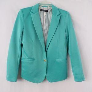 Zara Womans Turquoise Blazer- Medium- Pre owned